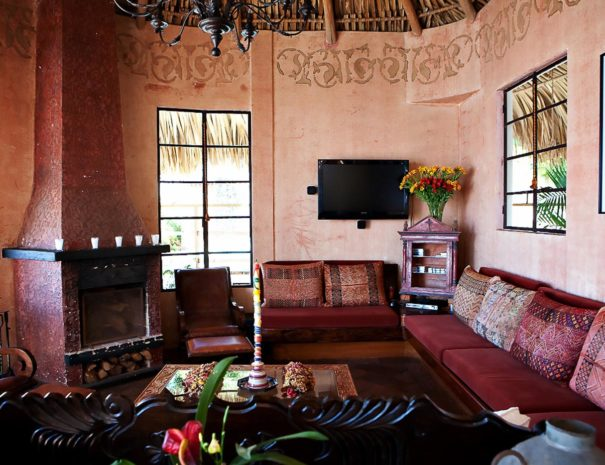 Living room at our vacation home near Panajachel GUA